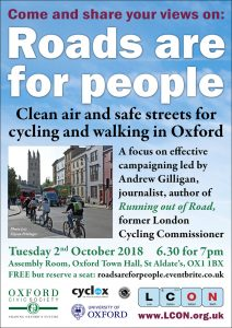 Roads Are for People: a public meeting with Andrew Gilligan